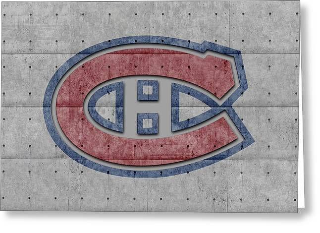 Ice-skating Greeting Cards - Montreal Canadiens Greeting Card by Joe Hamilton