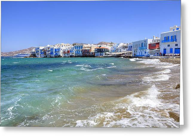 Cyclades Greeting Cards - Mykonos Greeting Card by Joana Kruse