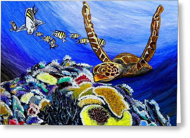 Beach Photos Mixed Media Greeting Cards - Sea Turtle Greeting Card by W Gilroy
