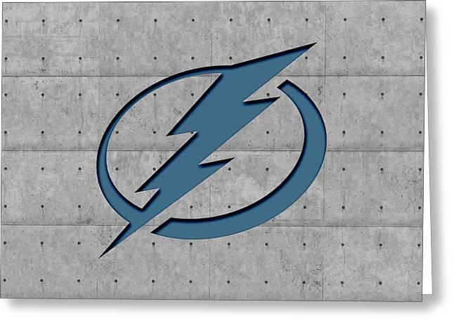 Ice-skating Greeting Cards - Tampa Bay Lightning Greeting Card by Joe Hamilton