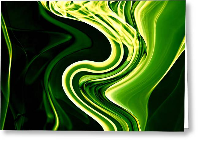 Cushion Greeting Cards - Abstract Smoke Art Greeting Card by Stephen Inglis