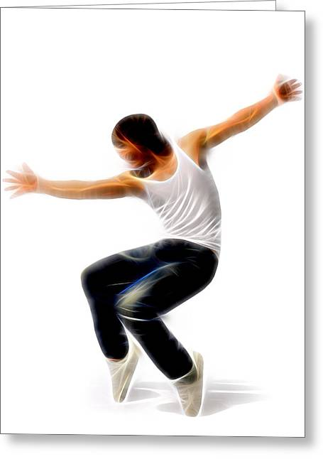 Lessons Greeting Cards - Can Dance Greeting Card by Michael Vicin