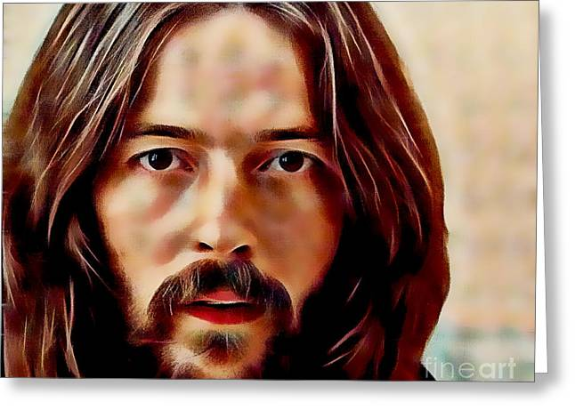 Eric Clapton Collection Greeting Card by Marvin Blaine