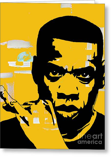 Den Greeting Cards - Jay Z Collection Greeting Card by Marvin Blaine