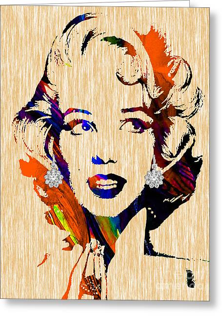 Pop Mixed Media Greeting Cards - Marilyn Monroe Collection Greeting Card by Marvin Blaine