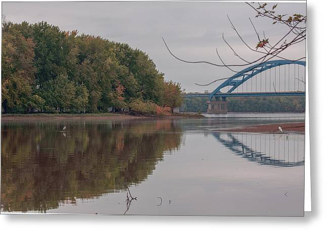 Concord Greeting Cards - 280 Bridge in Fall Greeting Card by Heidi Brandt