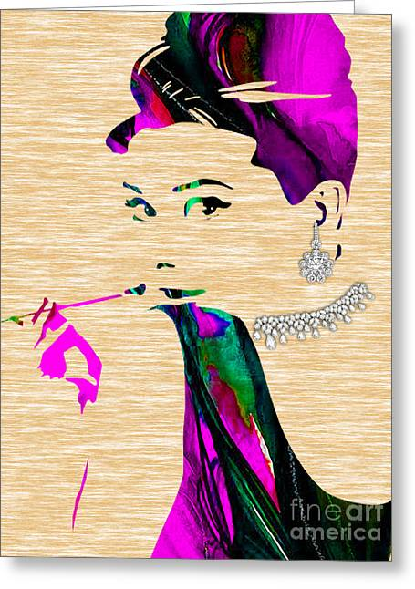 Audrey Hepburn Collection Greeting Card by Marvin Blaine