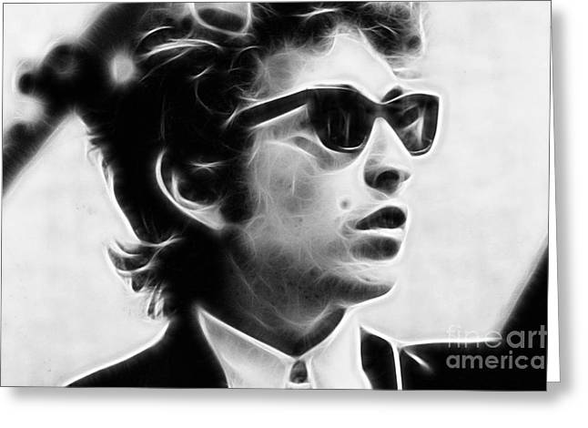 Pop Singer Greeting Cards - Bob Dylan Collection Greeting Card by Marvin Blaine