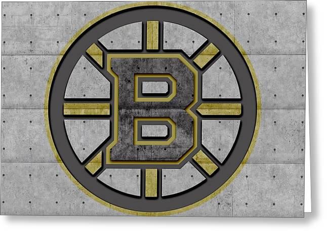 Ice-skating Greeting Cards - Boston Bruins Greeting Card by Joe Hamilton