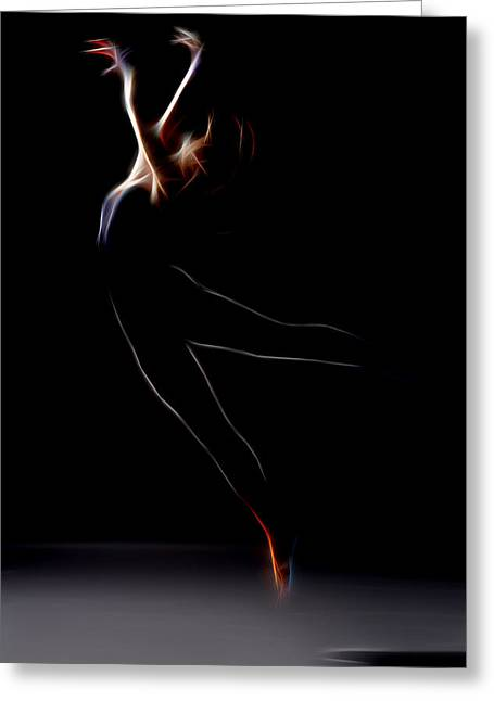 Lessons Greeting Cards - Can You Dance Greeting Card by Michael Vicin