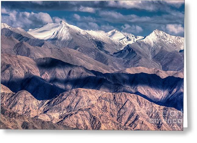 Landscape Of Ladakh Jammu And Kashmir India Greeting Card by Rudra Narayan  Mitra