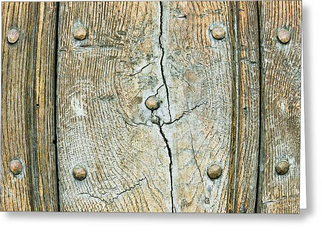 Wooden Background Greeting Card by Tom Gowanlock
