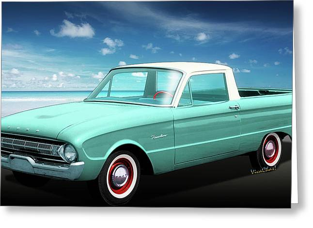 2nd Generation Falcon Ranchero 1960 Greeting Card by Chas Sinklier