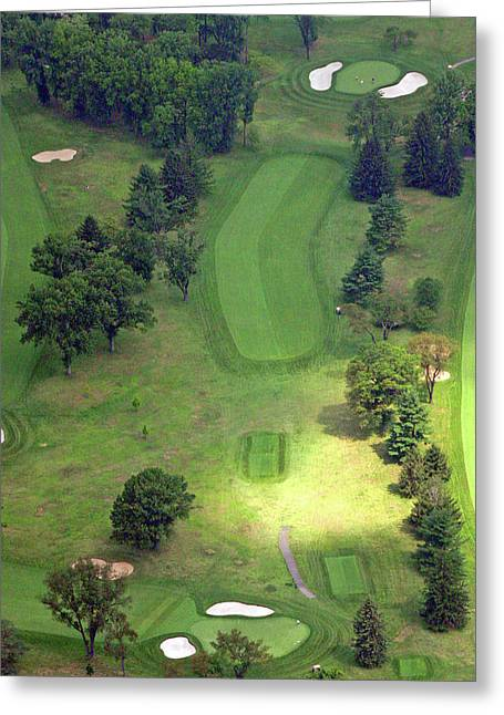 Plymouth Meeting Aerials Greeting Cards - 2nd Hole Sunnybrook Golf Club 398 Stenton Avenue Plymouth Meeting PA 19462 1243 Greeting Card by Duncan Pearson