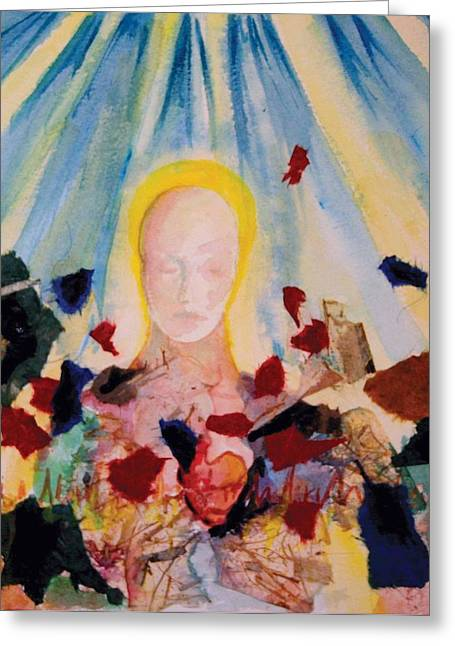 Sanity Greeting Cards - 2nd Step Greeting Card by Lucinda Blackstone