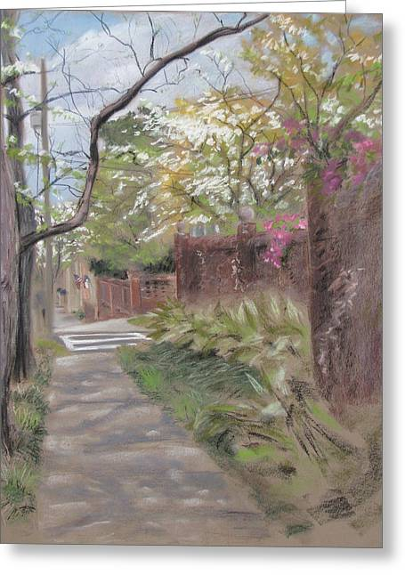 Spring Pastels Greeting Cards - 2nd Street Greeting Card by Christopher Reid
