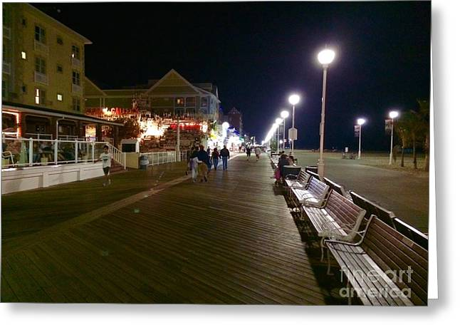 Surf City Greeting Cards - 2nd Street on the Boards Greeting Card by Doug Swanson