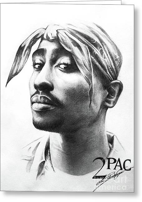 2pac Greeting Card by Lin Petershagen
