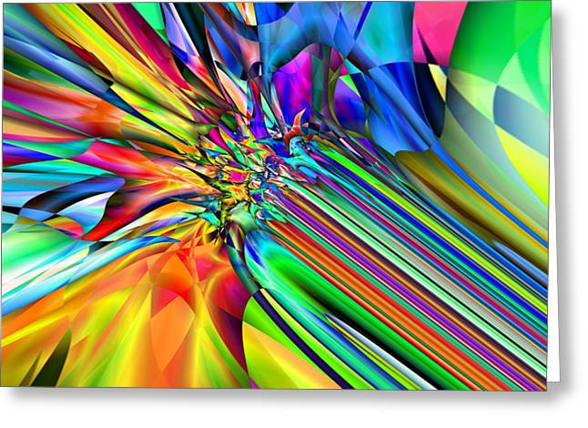 2x1 Abstract 308 Greeting Card by Rolf Bertram