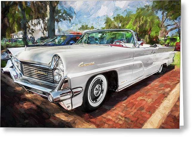 1959 Lincoln Continental Town Car Mk Iv Painted  Greeting Card by Rich Franco