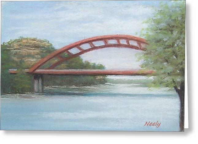 Austin Pastels Greeting Cards - 360 Bridge Greeting Card by Pat Neely