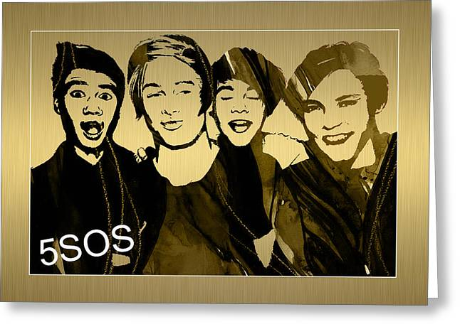 5sos Collection Greeting Card by Marvin Blaine
