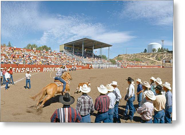 75th Ellensburg Rodeo, Labor Day Greeting Card by Panoramic Images
