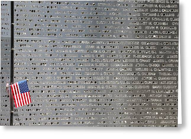 September 11th Attacks Greeting Cards - 9-11 Memorial Rocky Point New York Greeting Card by Bob Savage