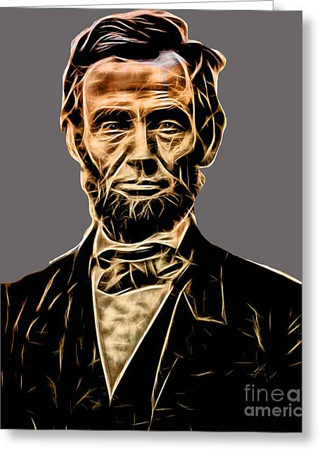 Abraham Lincoln Greeting Cards - Abraham Lincoln Collection Greeting Card by Marvin Blaine