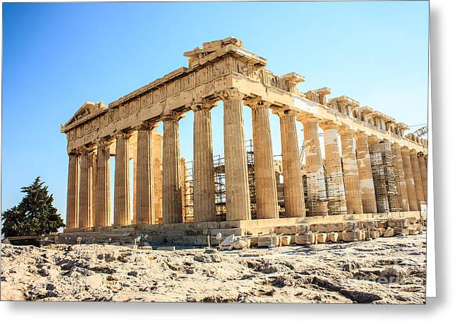 Civilization Pyrography Greeting Cards - Acropolis Of Athens Greeting Card by Fineart Photographs
