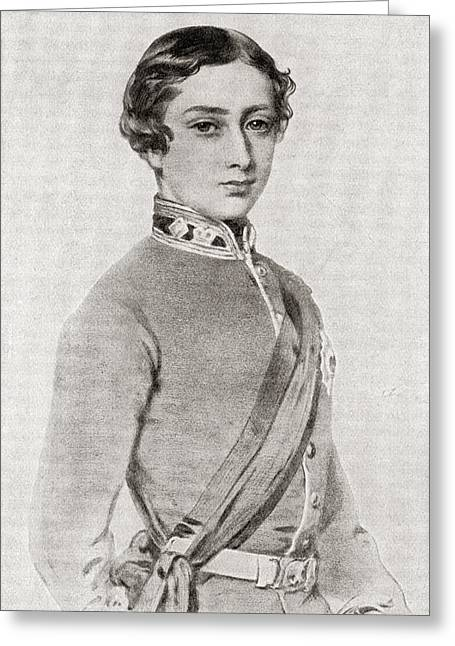 British Royalty Greeting Cards - Albert Edward, Prince Of Wales, 1841 Greeting Card by Vintage Design Pics