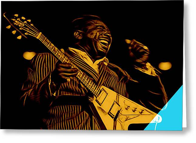 Albert King Collection Greeting Card by Marvin Blaine