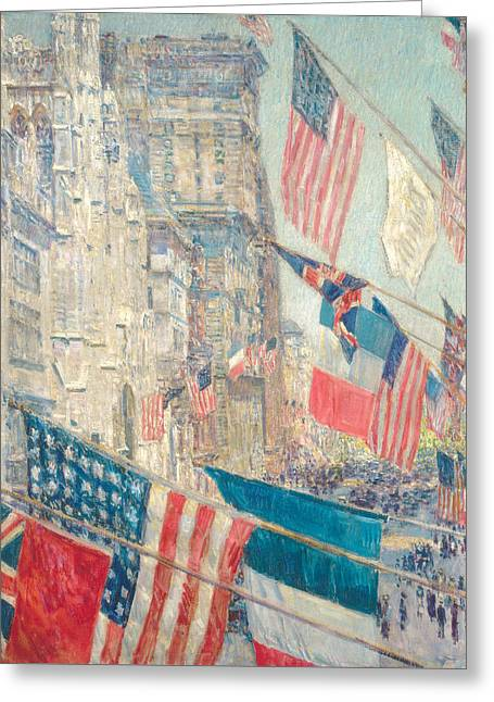 Allies Day, May 1917 Greeting Card by Childe Hassam