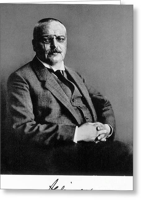 Important Greeting Cards - Alois Alzheimer, German Neuropathologist Greeting Card by Science Source