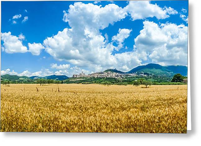Francis Greeting Cards - Ancient town of Assisi, Umbria, Italy Greeting Card by JR Photography