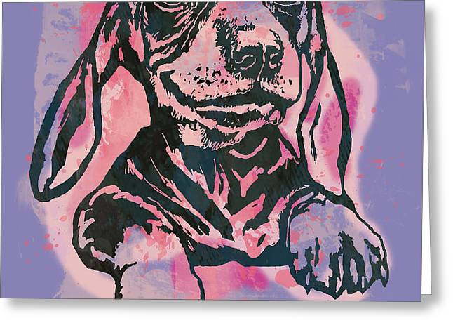Animal Pop Art Etching Poster - Dog  5  Greeting Card by Kim Wang