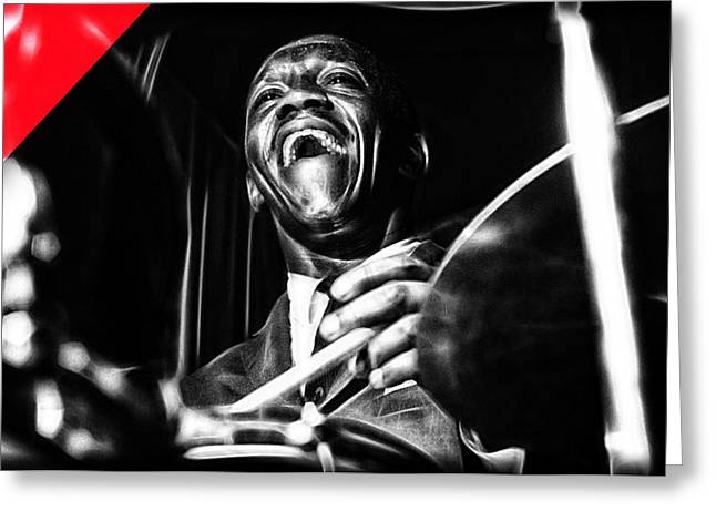 Art Blakey Collection Greeting Card by Marvin Blaine