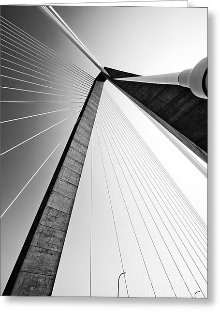 Architecture Greeting Cards - Arthur Ravenel Jr Bridge Charleston SC Cooper River Greeting Card by Dustin K Ryan