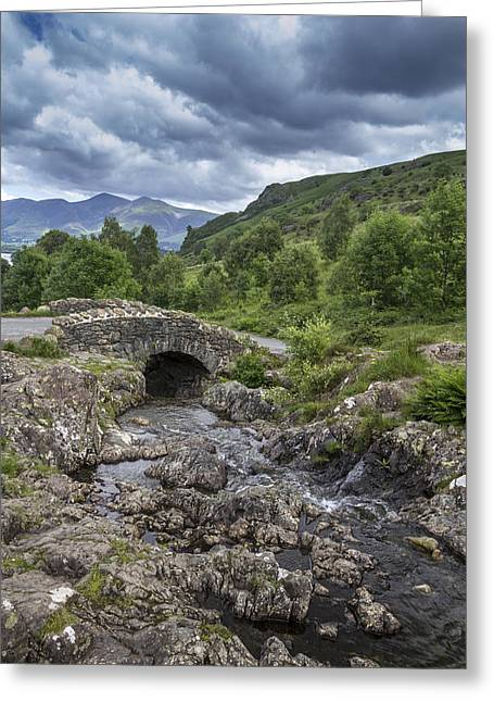Beautiful Creek Greeting Cards - Ashness Bridge Greeting Card by Chris Smith