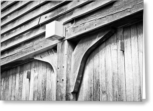 Sheds Greeting Cards - Barn detail Greeting Card by Tom Gowanlock
