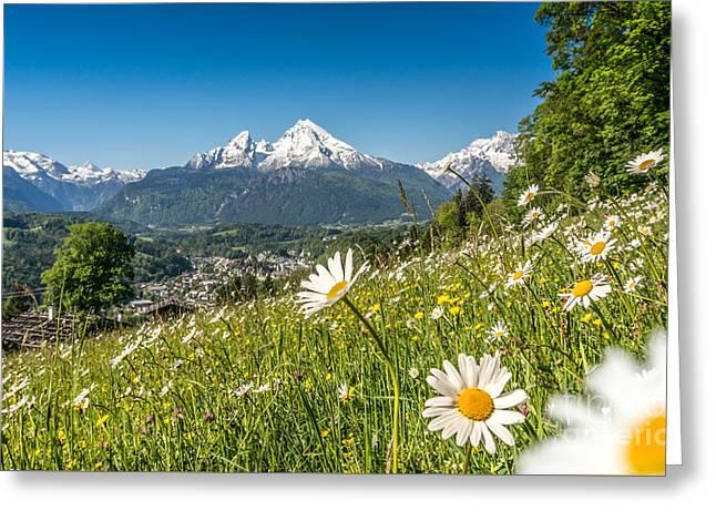 Swiss Photographs Greeting Cards - Bavarian Beauty in the Alps Greeting Card by JR Photography