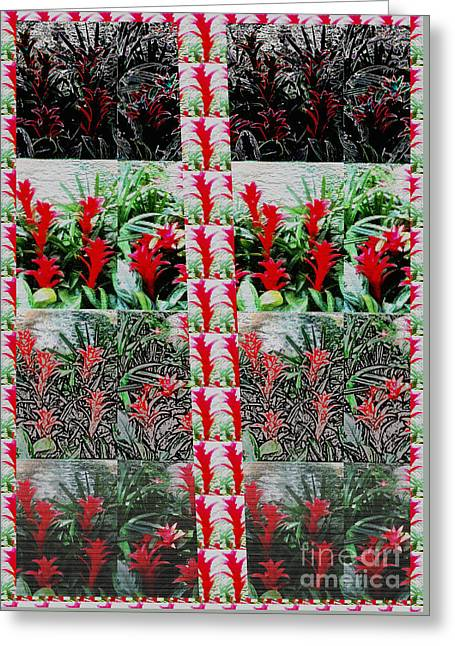 Christmas Greeting Greeting Cards - Be Different BUY DIFFERENT Flower based Graphic Digital Paintings Home Decor Abstract FineArt   Greeting Card by Navin Joshi