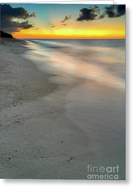Edge Greeting Cards - Beach Sunset Greeting Card by Adrian Evans