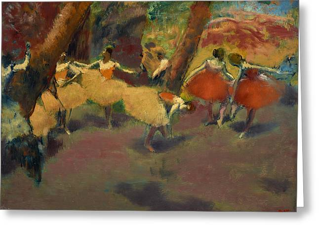 Edgar Home Greeting Cards - Before The Performance Greeting Card by Edgar Degas
