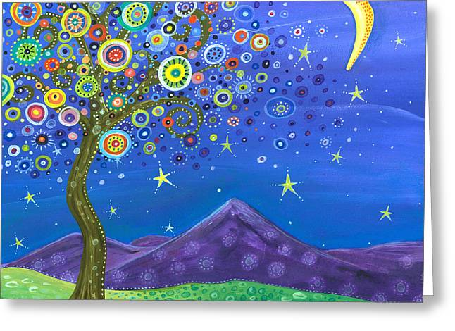 Moonlit Night Greeting Cards - Believe in Your Dreams Greeting Card by Tanielle Childers