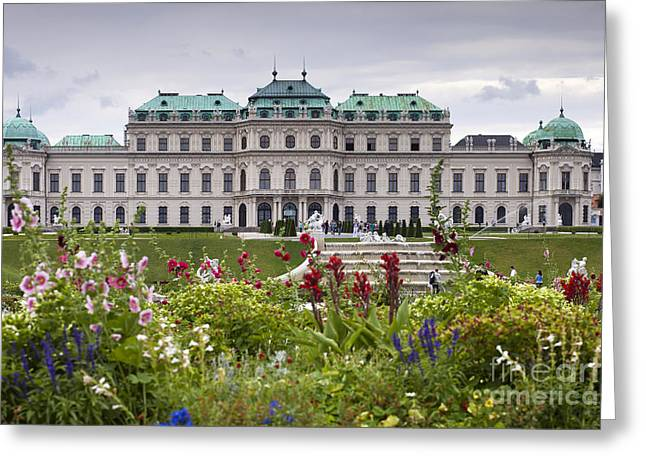 Wien Greeting Cards - Belvedere Palace Greeting Card by Andre Goncalves