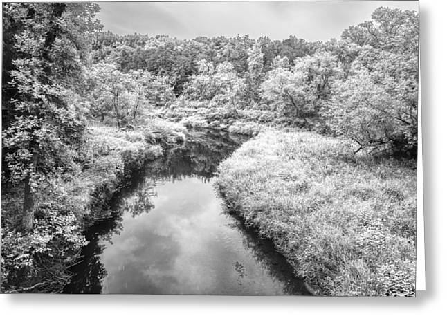 White Photographs Greeting Cards - Black and White Scenic Landscape Greeting Card by Donald  Erickson