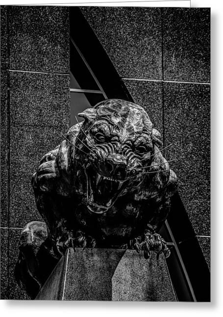 Charlotte Greeting Cards - Black Panther Statue Greeting Card by Alexandr Grichenko