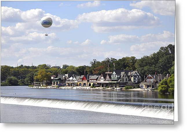 Boathouse Row Greeting Cards - Boathouse Row Greeting Card by Andrew Dinh