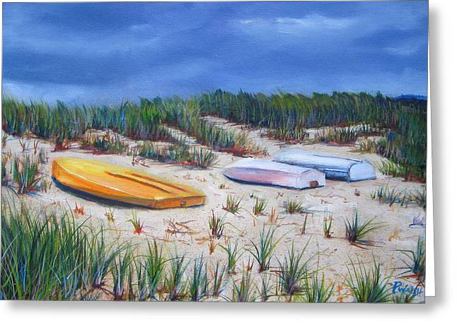 Cape Cod Greeting Cards - 3 Boats Greeting Card by Paul Walsh